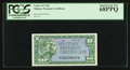 Military Payment Certificates:Series 611, Series 611 10c PCGS Superb Gem New 68PPQ.. ...