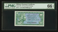 Military Payment Certificates:Series 611, Series 611 10c PMG Gem Uncirculated 66 EPQ.. ...