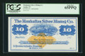 Obsoletes By State:Nevada, Austin, NV - Manhattan Silver Mining Co. $10 187_ Remainder. ...