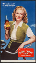 "Movie Posters:Miscellaneous, Joan Caulfield for Royal Crown Cola (Nehi Corp., 1940s). Advertising Poster (11.5"" X 20.5""). Miscellaneous.. ..."