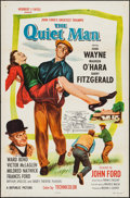 "Movie Posters:Drama, The Quiet Man (Republic, R-1957). One Sheet (27"" X 41"") FlatFolded. Drama.. ..."