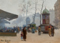 Fine Art - Painting, European:Modern  (1900 1949)  , Armand Robert (French, 19th Century). Vue de Paris, 1906.Oil on board. 9-3/8 x 12-3/4 inches (23.8 x 32.4 cm). Signed i...