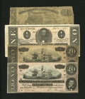 Confederate Notes:1864 Issues, T67 $20 1864 Choice CU. T67 $20 1864 Good. T71 $1 1864 Fine-VF. Grenada, MS- Mississippi and Tennessee Rail Road Company $1 ... (Total: 4 notes)