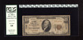 National Bank Notes:Virginia, Petersburg, VA - $10 1929 Ty. 1 The Virginia NB Ch. # 7709. Ben T.Kinsey and G.C. Wright managed this bank. PCGS Very...