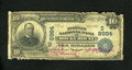 National Bank Notes:Virginia, Rocky Mount, VA - $10 1902 Date Back Fr. 618 The Peoples NB Ch. #(S)8984. This is the only 1902 Date Back in the Kelly ...