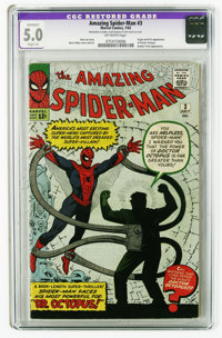 The Amazing Spider-Man #3 (Marvel, 1963) CGC Apparent VG/FN 5.0 Slight (A) Off-white pages. Origin and first appearance...