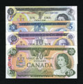 Canadian Currency: , That 1970s Canada.. ... (Total: 4 notes)