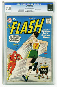 The Flash #107 (DC, 1959) CGC FN/VF 7.0 Off-white to white pages. Part two of the Gorilla Grodd trilogy. Carmine Infanti...