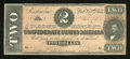 Confederate Notes:1864 Issues, T70 $2 1864. Corner handling is detected on this Deuce. Choice About Uncirculated....