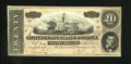 Confederate Notes:1864 Issues, T67 $20 1864. This is a fresh example that is well margined with a light pencil mark on the back. Crisp Uncirculated....