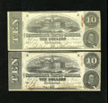 Confederate Notes:1863 Issues, T59 $10 1863 Two Examples. This perfectly matched pair are problem free Very Fine quality notes.. ... (Total: 2 notes)