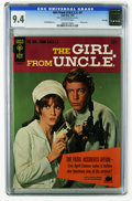 Silver Age (1956-1969):Adventure, Girl From U.N.C.L.E. #1 File Copy (Gold Key, 1967) CGC NM 9.4 Off-white pages. Stephanie Powers front and back photo covers ...