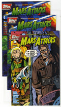 Modern Age (1980-Present):Science Fiction, Mars Attacks #2 and 3 Multiple Copies Group (Topps Comics, 1994)Condition: Average VF. Originally released as a card set,