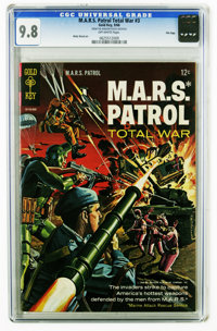 M.A.R.S. Patrol Total War #3 File Copy (Gold Key, 1966) CGC NM/MT 9.8 Off-white pages. Painted Cover. Wally Wood art. Al...