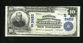 National Bank Notes:Maryland, Baltimore, MD - $10 1902 Plain Back Fr. 633 The National MarineBank Ch. # (E)2453. Only three folds are noted on this o...