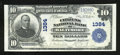 National Bank Notes:Maryland, Baltimore, MD - $10 1902 Plain Back Fr. 624 The Citizens NB Ch. #1384. A perfect XF is all regards, only three folds a...