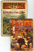 """Pulps:Miscellaneous, Pulp Group of 2 (Miscellaneous Publishers, 1909-47). Includes Buffalo Bill Stories #440 (GD), an early """"dime novel"""" publ... (Total: 2 Comic Books)"""
