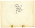 "Original Comic Art:Miscellaneous, Walt Disney Studios - ""Building a Building"" Animation ProductionDrawing Original Art (Disney, 1933). Minnie delivers box lu..."