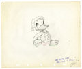 "Original Comic Art:Miscellaneous, Walt Disney Studios - Donald Duck ""Self Control"" AnimationProduction Drawing Original Art (Disney, 1938). Donald's day ofr..."