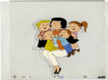Original Comic Art:Miscellaneous, The Family Circus Animation Production Cel and Background DrawingOriginal Art (undated). Bil Keane's creation comes to life...(Total: 2 Items)