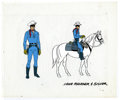 "Original Comic Art:Miscellaneous, Lone Ranger and Silver Animation Cel Original Art (undated). ""Afiery horse with the speed of light and a hearty hi-yo Silve..."