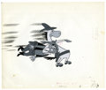 Original Comic Art:Miscellaneous, Quick Draw McGraw Hand Painted Animation Cel Original Art(undated). A roller blade wearing Quickdraw McGraw, takes out agu...