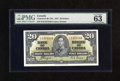 Canadian Currency: , BC-25c $20 1937 PMG Choice Uncirculated 63. Simply a pleasingexample of this tougher note....