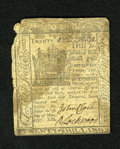Colonial Notes:Delaware, Delaware May 1, 1777 20s Good. John Clarke and R. Lockwood signedthis note that has a missing corner and a moisture spot....
