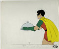 Original Comic Art:Miscellaneous, Robin Animation Production Cel Original Art (undated). Robin servesa covered dish, in this original production animation ce...
