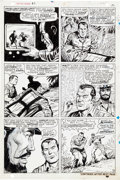 Original Comic Art:Panel Pages, Dick Ayers and Syd Shores Capt. Savage and his LeatherneckRaiders #3 Pages 9-20 Original Art Group of 12 (Marvel,...(Total: 12 Original Art)