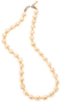 "Luxury Accessories:Accessories, Chanel Glass Pearl & Gold Metal Necklace . Good to Very GoodCondition. .5"" Width x 21"" Length. ..."