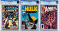Modern Age (1980-Present):Miscellaneous, Marvel CGC-Graded Modern Age Comics Group of 3 (Marvel, 1979-88).... (Total: 3 Comic Books)