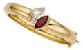 Estate Jewelry:Bracelets, Diamond, Ruby, Gold Bracelet. ...