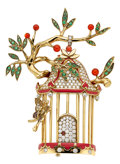 Estate Jewelry:Brooches - Pins, Diamond, Multi-Stone, Cultured Pearl, Gold Brooch, Tiffany & Co., France. ...
