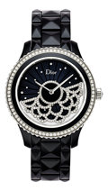 Estate Jewelry:Watches, Dior VIII Grand Bal Dentelle Lady's Diamond, Ceramic, StainlessSteel Automatic Wristwatch. ...