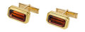 Estate Jewelry:Cufflinks, Tourmaline, Gold Cuff Links. ...