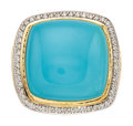 Estate Jewelry:Rings, Turquoise, Diamond, Gold Ring, David Yurman. ...