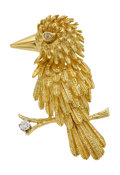 Estate Jewelry:Brooches - Pins, Diamond, Gold Brooch, Karbra. ...