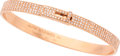 "Luxury Accessories:Accessories, Hermes 18K Rose Gold & Diamond Kelly PM Bracelet. ExcellentCondition. 1.75"" Width x 2.25"" Length. ..."