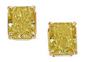 Estate Jewelry:Earrings, Fancy Intense Yellow Diamond, Gold Earrings, Tiffany & Co.. ...