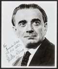 "Movie Posters:Miscellaneous, Miklos Rozsa (1977). Autographed Portrait Photo (8"" X 10"").Miscellaneous.. ..."