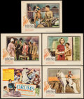 "Movie Posters:Adventure, Drums (United Artists, 1938). Title Lobby Card, Lobby Cards (4) (11"" X 14""), & Promotional Materials (5) (5"" X 7.75"", 6"" X 9... (Total: 10 Items)"