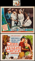 "Movie Posters:Adventure, White Savage & Other Lot (Universal, 1943/Film Classics,R-1949/Realart, R-1953). Lobby Card, Title Lobby Card (11"" X 14""),... (Total: 25 Items)"