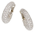 Estate Jewelry:Earrings, Diamond, Platinum, White Gold Earrings, Neiman Marcus . ...