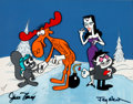 Animation Art:Limited Edition Cel, The Rocky and Bullwinkle Show Scene Cel Setup (Jay Ward,1970s/80s)....