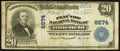 National Bank Notes:West Virginia, Bluefield, WV - $20 1902 Plain Back Fr. 650 The Flat Top NB Ch. #6674. ...