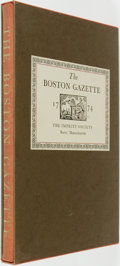 Books:Periodicals, Francis G. Walett, Introduction. The Boston Gazette1774. Barre, Massachusetts: The Imprint Society, 1972....