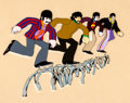 Animation Art:Production Cel, The Beatles Yellow Submarine John, Paul, George, and RingoProduction Cel (United Artists/King Features, 1968).... (Total: 2Original Art)