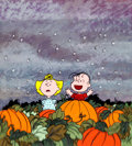 Animation Art:Production Drawing, Peanuts It's the Great Pumpkin, Charlie Brown Children's Book Illustration (1970s)....