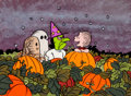 Animation Art:Production Drawing, Peanuts It's the Great Pumpkin, Charlie Brown Children'sBook Illustration (1970s)....
